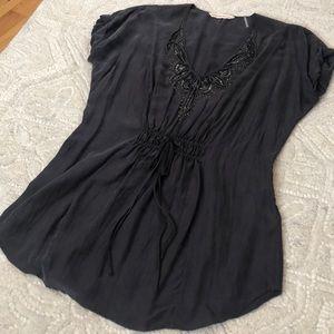 Rebecca Taylor silk beaded tunic top Size: 2